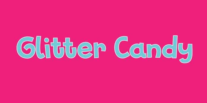 Glitter Candy DEMO Font poster