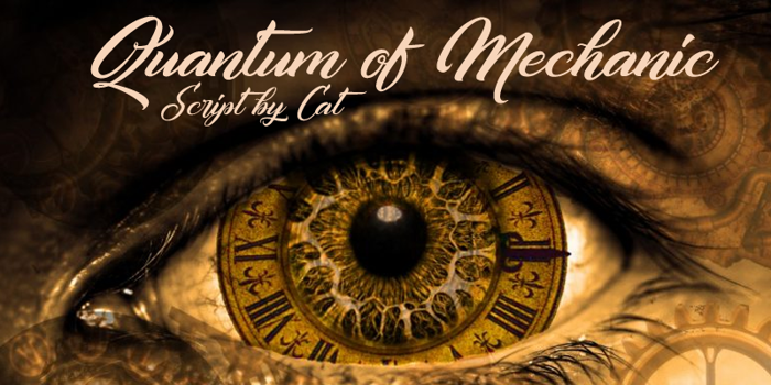 Quantum of Mechanic Font poster