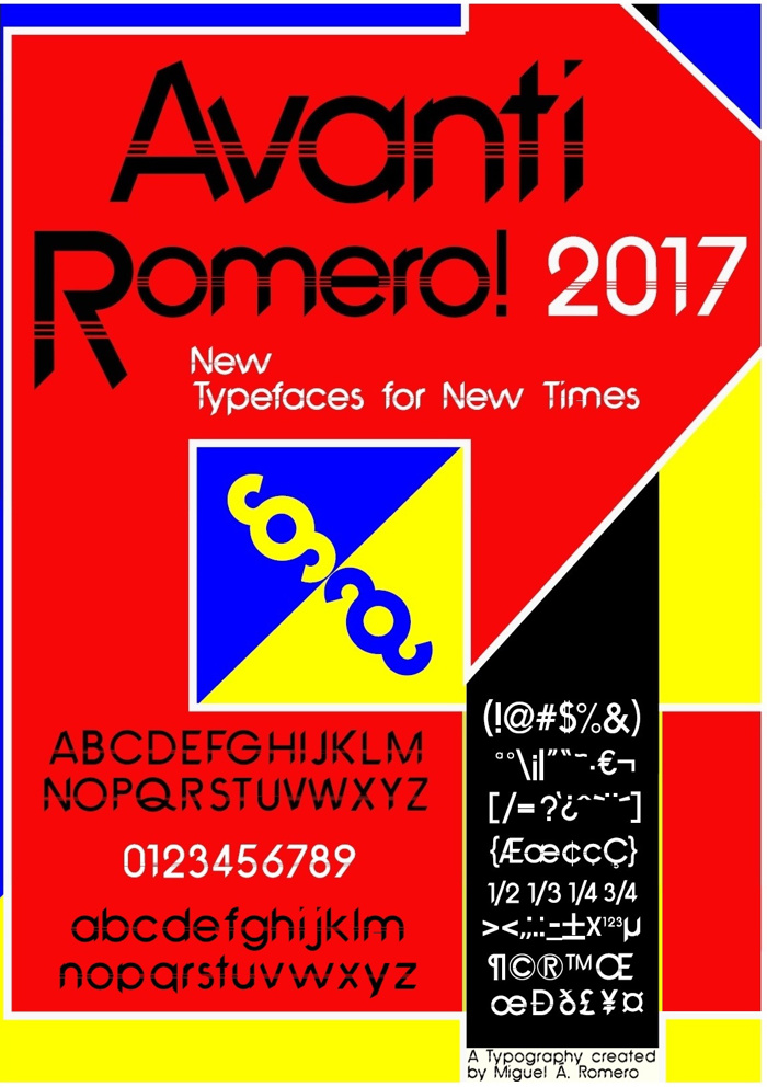 Avanti Romero Font poster