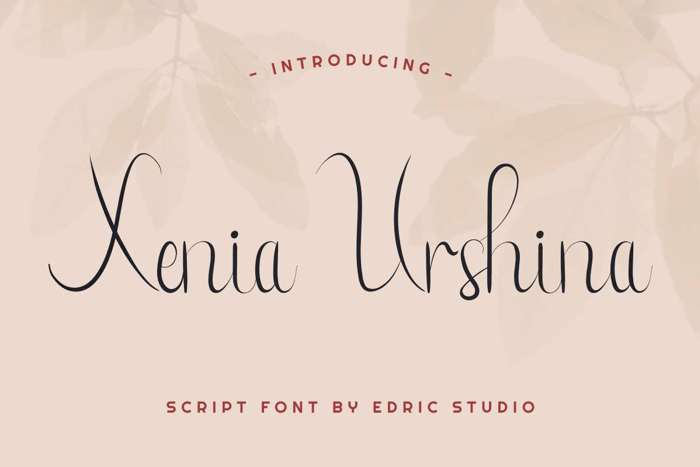 Xenia Urshina Font poster