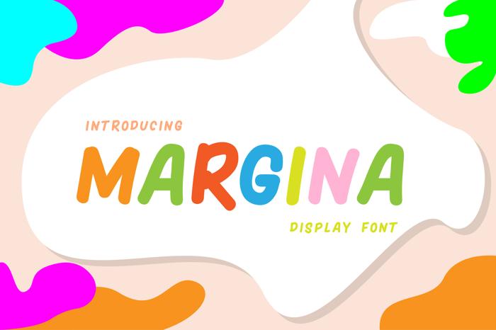 MARGINA Font poster