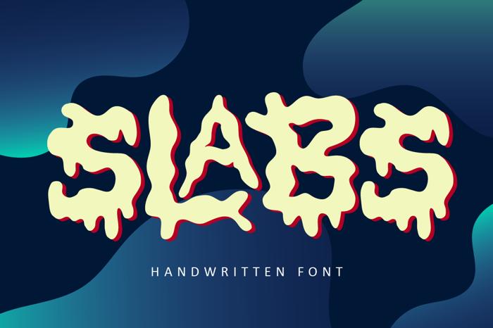 Slabs Font poster