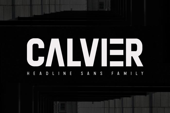 Calvier Font poster