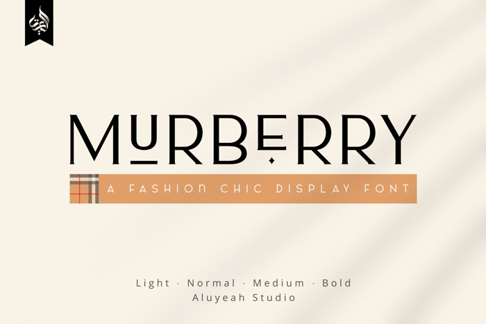 Murberry Font poster
