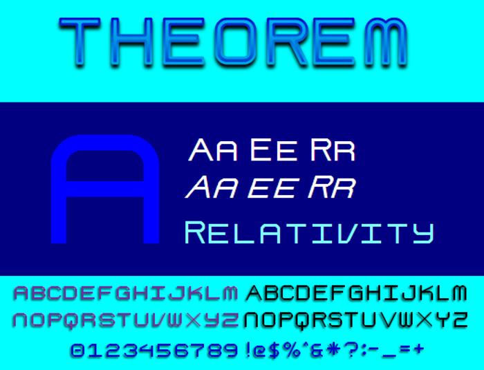 Theorem NBP Font poster