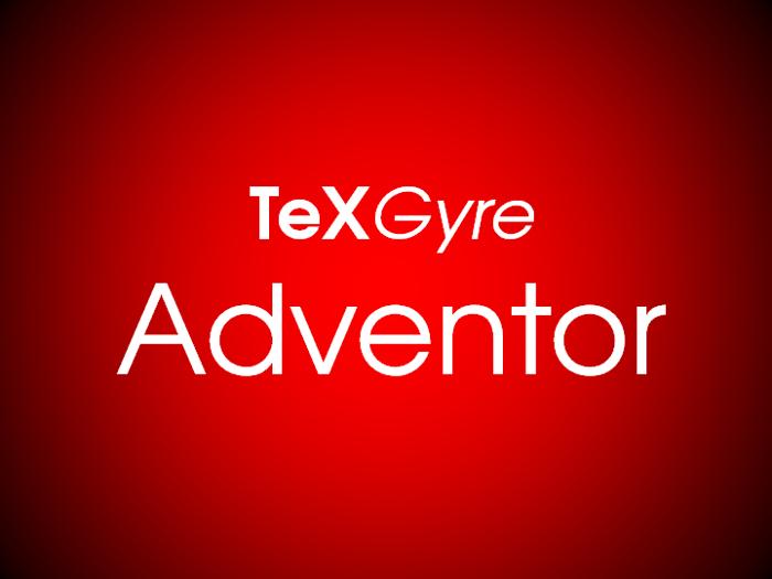 TeXGyreAdventor Font poster