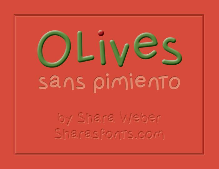 OlivessansPimiento Font poster