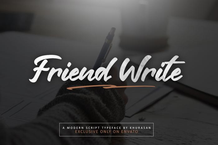 Friend Write Font poster