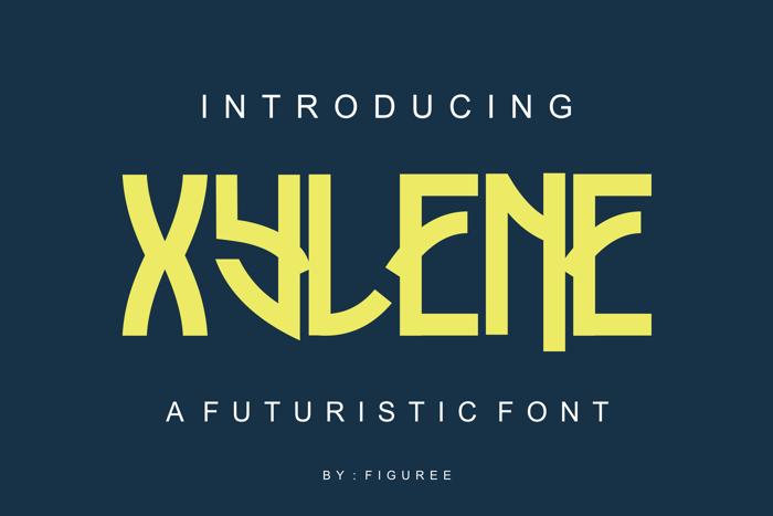 Xylene Font poster