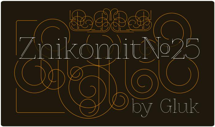 ZnikomitNo25 Font poster