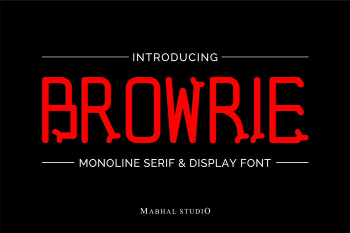 BROWRIE Font poster