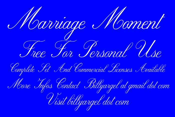 Marriage Moment Font poster