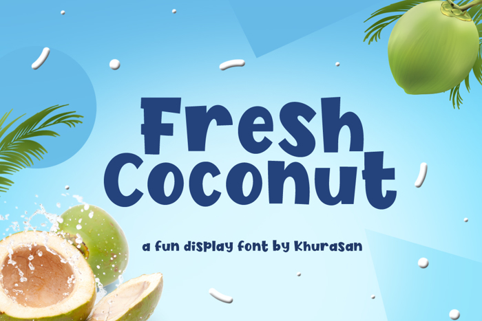Fresh Coconut Font poster
