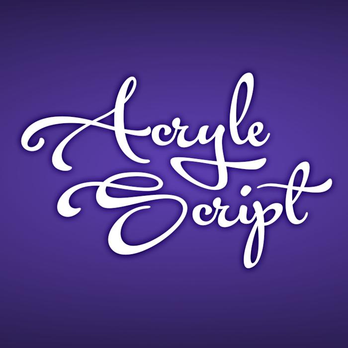 Acryle Script Font poster