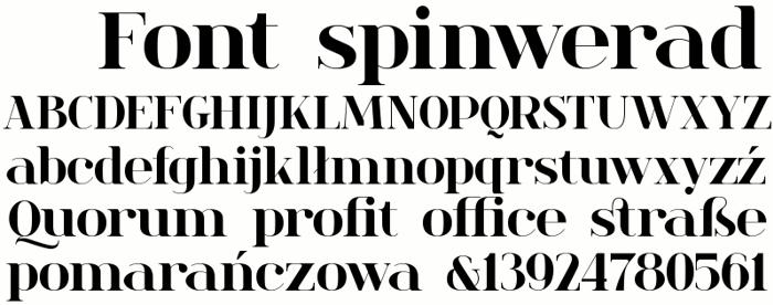 spinwerad Font poster