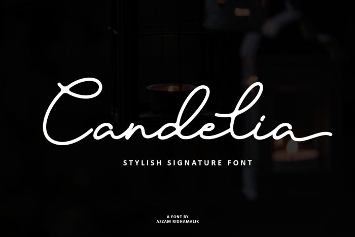Candelia Font poster