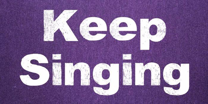 Keep Singing Font poster