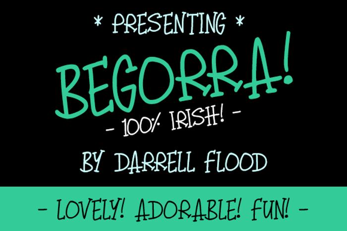 Begorra Font poster