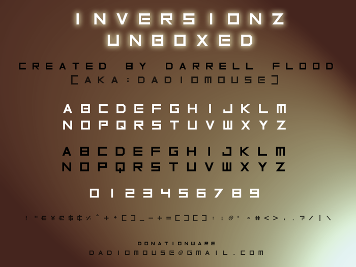 Inversionz Font poster
