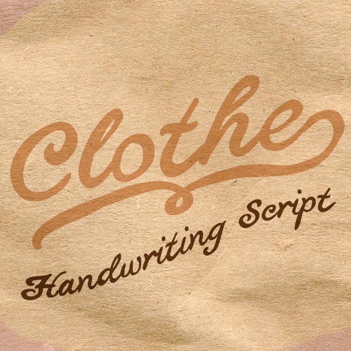 Clothe Font poster