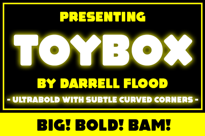 Toy Box Font poster