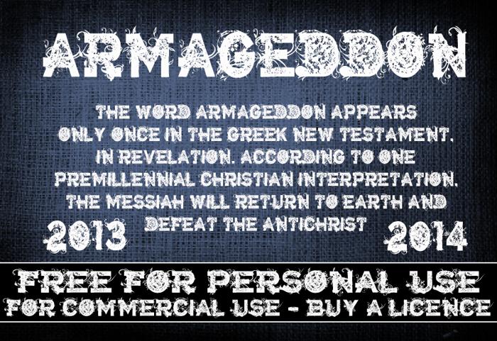 CF Armageddon Font poster
