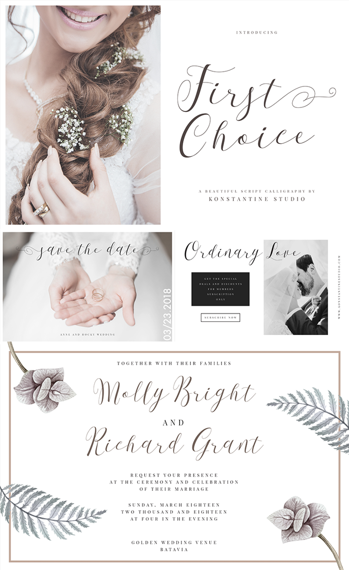 First Choice Font poster