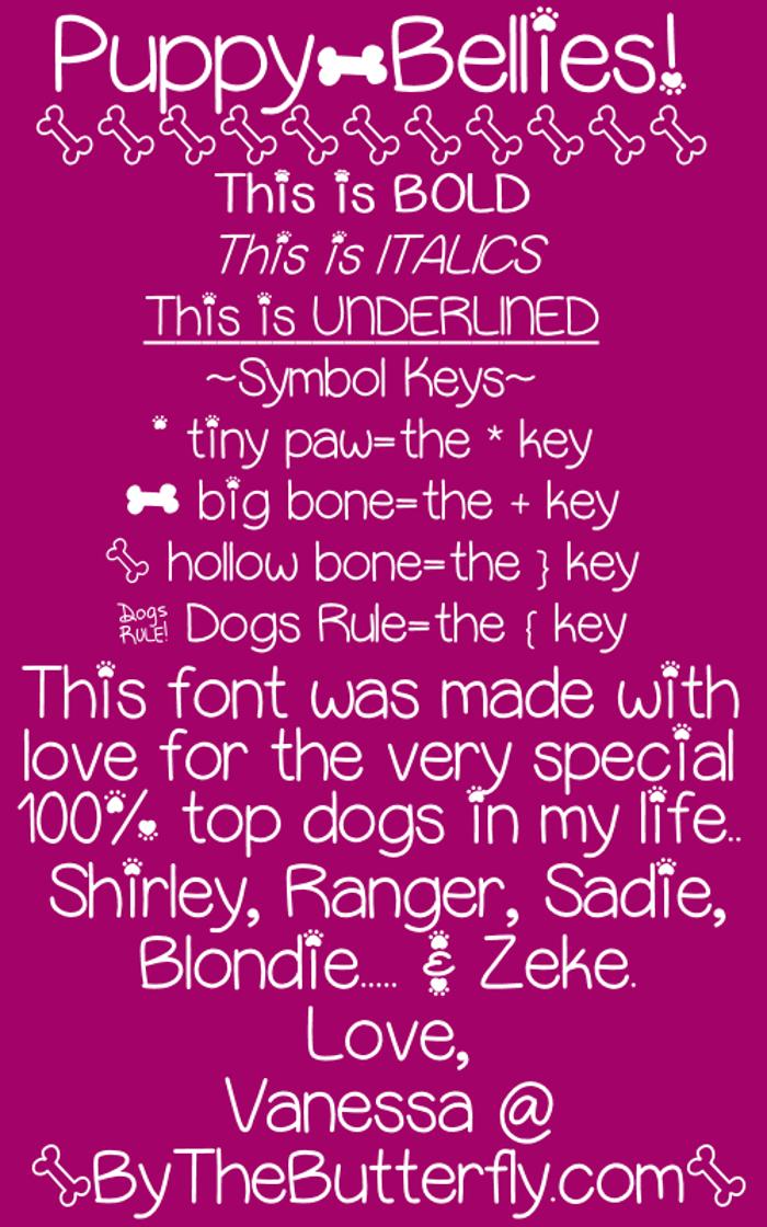 PuppyBellies Font poster