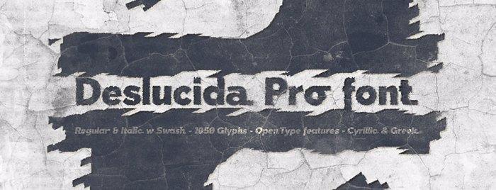 Deslucida Font poster