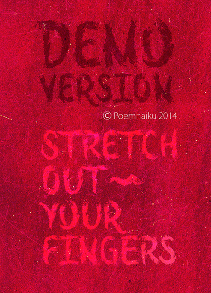 Stretch Out Your Fingers Font poster