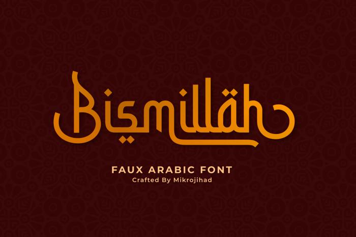 Bismillah Script Font poster