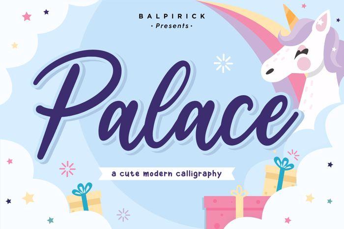 Palace Font poster