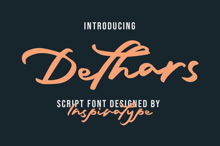 Dethars Font poster