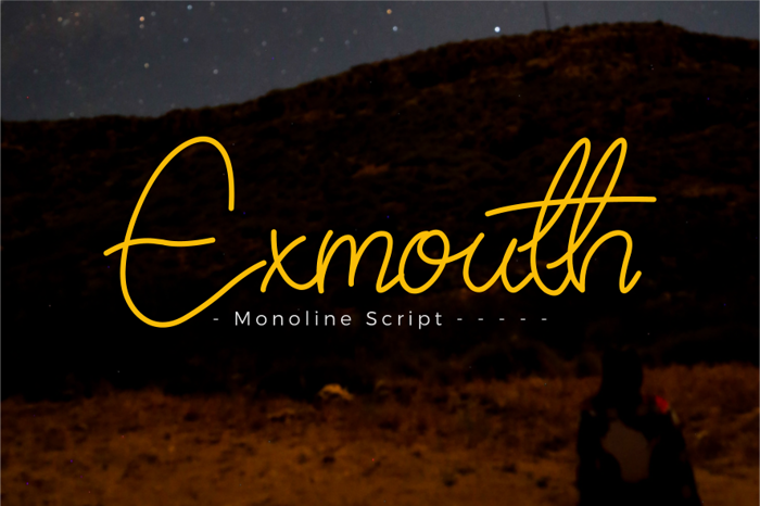 Exmouth Font poster