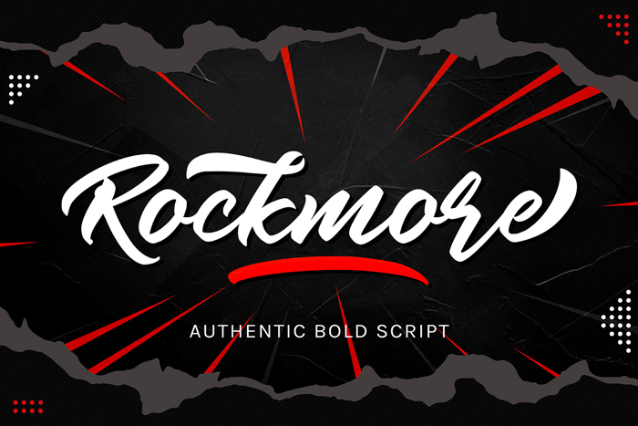 Rockmore Font poster