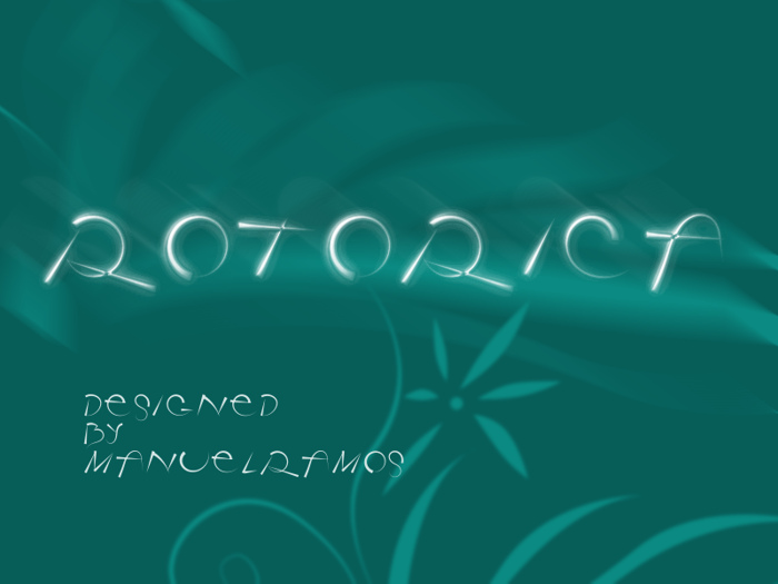 Rotorica Font poster