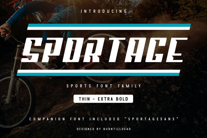 Sportage Font poster