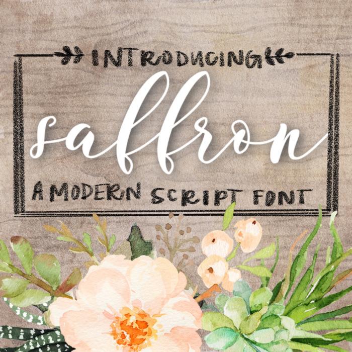 Saffron Font poster