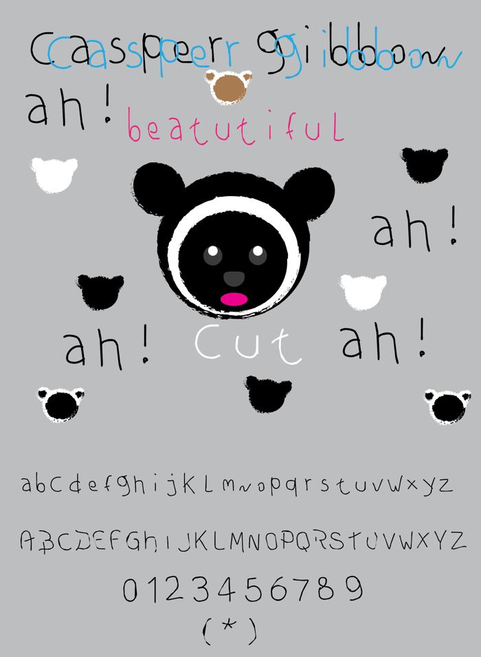 casper gibbon Font poster