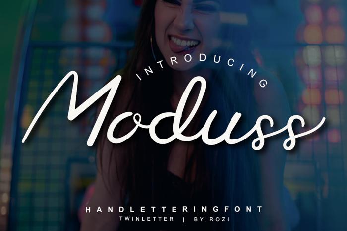 Moduss Font poster