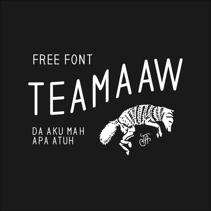 teamaaw Font poster
