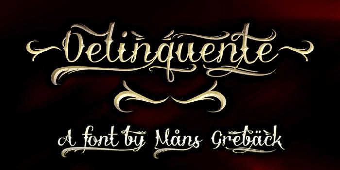 Delinquente Demo Font poster