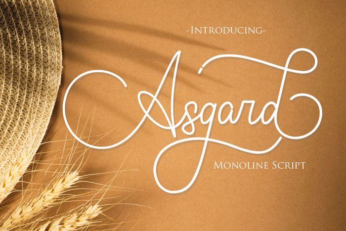 Asgard Font poster