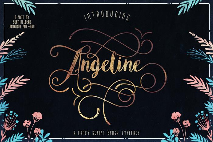 Angeline Vintage Font poster