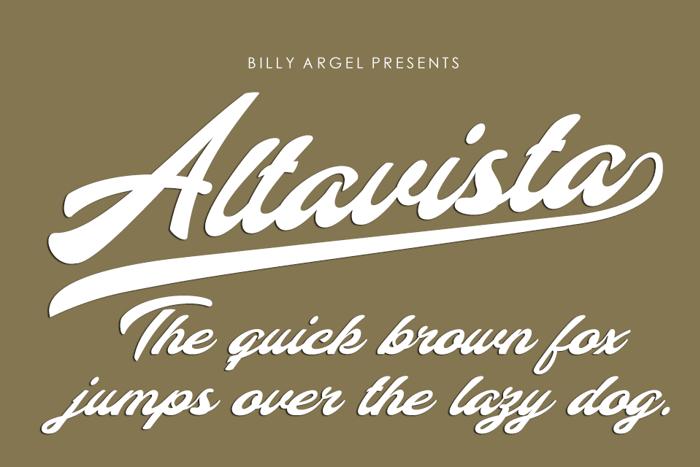Altavista Font poster