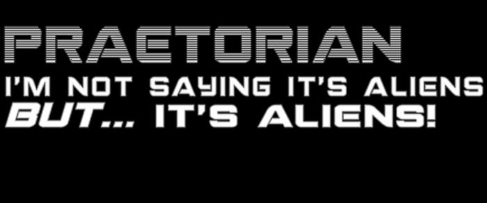 Praetorian Font poster