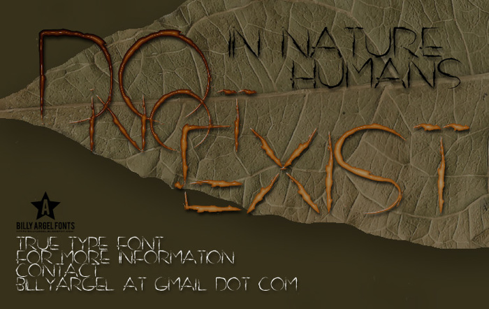 DO NOT EXIST Font poster