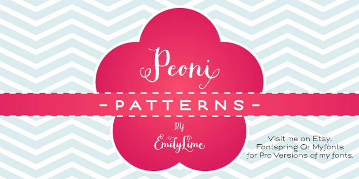 Peoni Patterns Font poster
