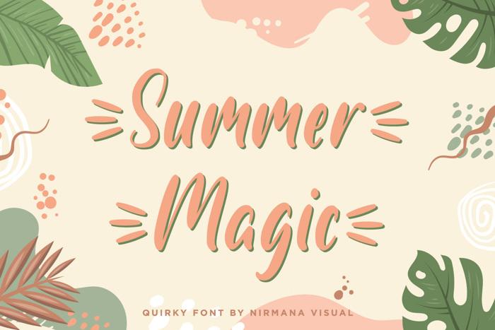 Summer Magic Font poster