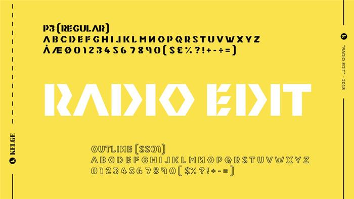 Radio Edit Font poster